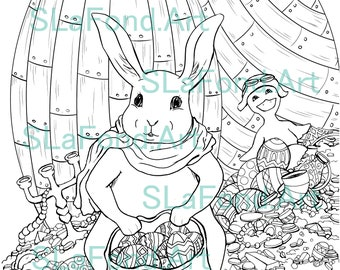 Egglandia Coloring Bundle -Include 5 different Illustrations