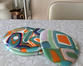 Glass Coasters, Set of 4
