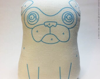 Paint by Number Pug - Small Pug-Guise Plush