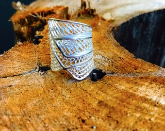 Bianca Handcrafted Silver Filigree Ring