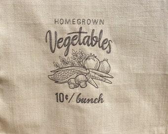 Kitchen Towel - Homegrown Vegetables
