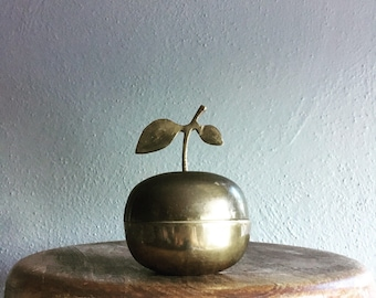 Cherry brass container
