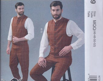 McCall's 7399 Mens Steampunk Victorian Cos Play Costume Vests Pants UNCUT Sewing Pattern