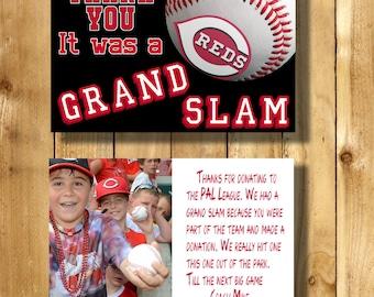 Cincinnati Reds 4x6 Thank You Note Cards