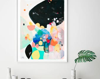 Abstract Painting print, abstract wall art, abstract art giclee print, geometric painting, colorful painting print, VictoriAtelier