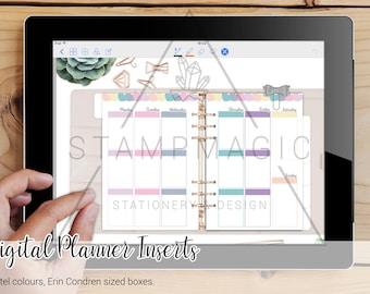 Digital Planner Inserts - WO2P - Vertical - Erin Condren Style