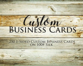 250 Custom Business Cards