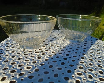 Glass - glass - 60's - bowls - set of 2 bowls