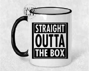 straight outta the box coffee mug, the box mug, crossfit box mug, crossfit box, crossfit coffee mug, crossfit mug, coffee mug, coffee cup