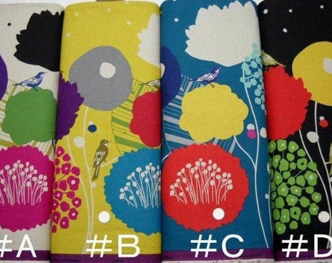 Echino Wildflower EF803 by Etsuko Furuya - Cotton Linen Fabric , 1 yard - select a color