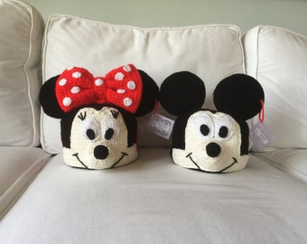Minnie and Mickey inspired Crochet Hats