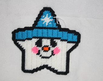 Snowman star coaster