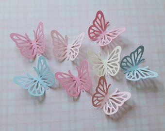 60 x paper butterfly die cuts, paper butterflies, butterfly confetti, scrapbooking, party decorations, candy bar table decoration