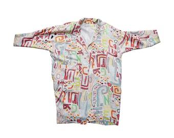 silk art deco style duster jacket