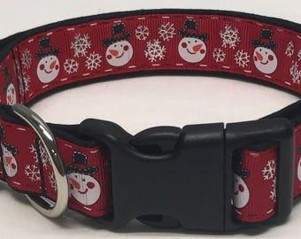 dog collar, winter snowman, snowman, snowman dog collar, snowman collar, winter, winter dog collar, winter collar, Christmas dog