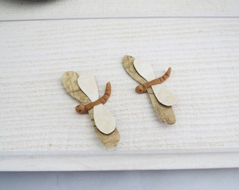 beige set of 2 dragonflies for customization