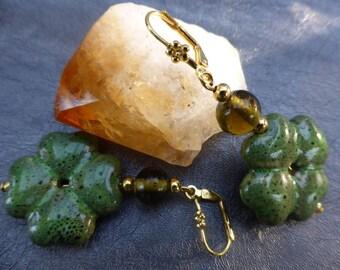 Earrings lucky clover