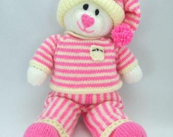 Bedtime Bear Knitting Pattern KBP-004