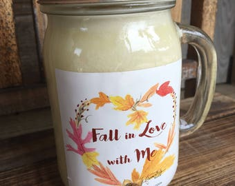 Cinna Vanilla Candle  / Soy Candle / Fall Candle / Fall Scent / Autumn Scent /Drinking Glass / Cinnamon / Fall Scented Candle / Thanksgiving