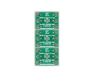 """3 PCS. - DFN6-1.2x1.0 0.40mm(0.016"""") to DIP 0.3""""."""