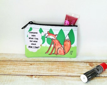 Fox Say Coin Purse Change Pouch What does the fox say funny twist forest red fox thoughtful