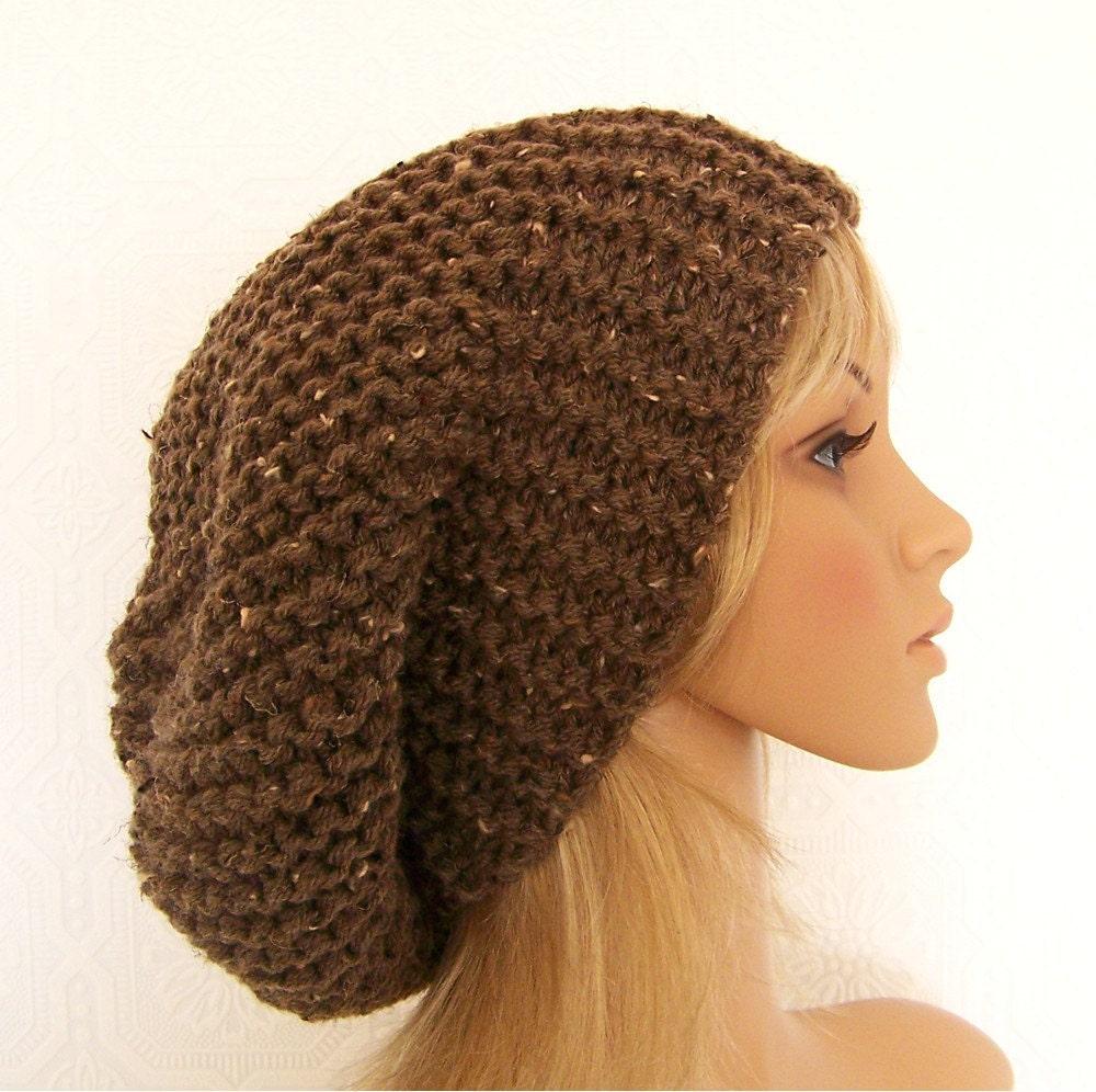 Knitting hat pattern - adult slouch hat PDF pattern - Fall Fashion ...