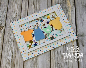 Baby Clothes Shaker Card