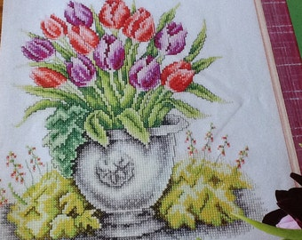 TULIP PLANTER - Cross Stitch Pattern Only