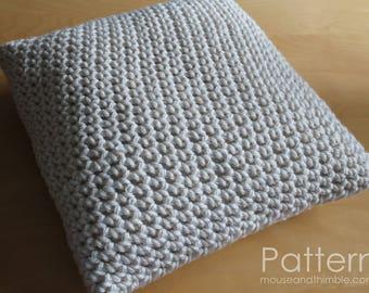 Crochet PATTERN / Super Bulky Chunky Pillow / Easy Beginner / PDF 1820