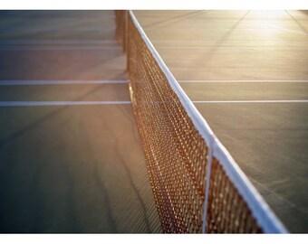 Tennis Art  - Tennis Photograph - Summer Photography - The Game 2 -  Fine Art Tennis Photograph - Green - Yellow - Tennis Print - Sports Art