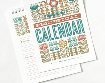 Perpetual Calendar, Personalized Reminder Calendar for Birthdays and Anniversaries, Thoughtful Gift Under 50 // DANISH GARDEN