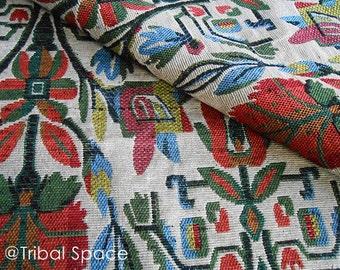 Boho Tribal Fabric,Hand woven Fabric,Aztec Fabric,Ethnic Fabric,Native Fabric,Fabric 1/2 Yard (BHJ_011)