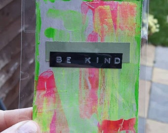 Be kind atc art card aceo original art