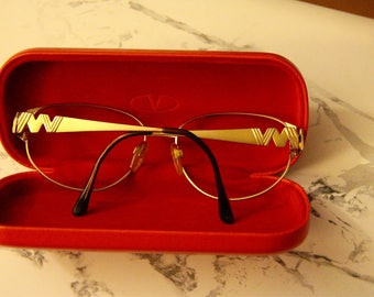 Vintage Valentino gold glasses frame / sunglasses frame (year 1998)
