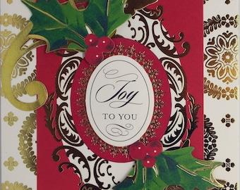 Joy To You, Holly Christmas Card 2017