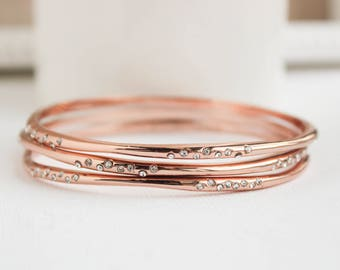 Rose Gold Bangles, Rose Gold Bracelet, Rose Gold Jewelry, Rose Gold Wedding Ideas, Everyday Jewelry