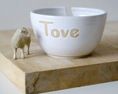 Stoneware little star yarn bowl - customised with your own message