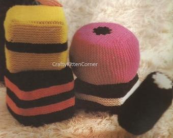 Vintage Allsorts Sweets Shaped Play Cushions Knitting PDF Pattern