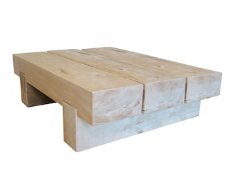 2 or 3 Block Chunky Oak Coffee Table