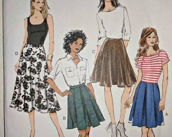 B5929, Butterick, Skirt Pattern, Sewing Pattern, Out of Print, Sizes 14-22