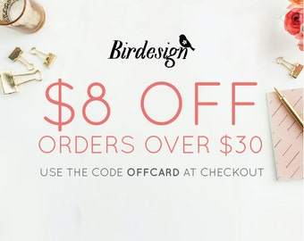 Special promo • Free 8 on orders over 30. Code OFFCARD