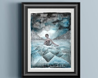 Mixed Media Original - Watercolor Painting - Fragile - 9x12 - Tree Talker Art -