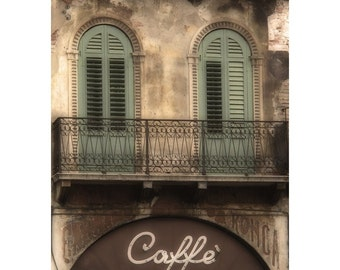 "Fine Art Sepia Photography of Cafe in Verona Italy - ""Veronese Cafe"""