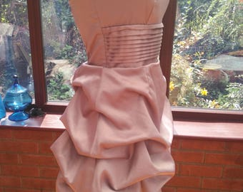 SALE - short gold prom special occasion bridesmaid ballgown wedding uk size12 usa size8