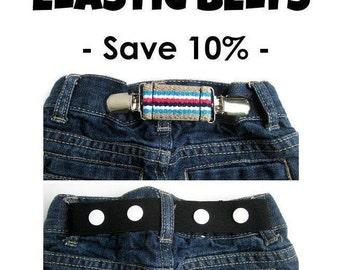 Toddler Belt for Boys and Girls- Elastic Snap Belt for Kids- Kids Belt- Baby Belt- Childrens Belt- Cinch Clip Belt- Gift for Kids Under 10