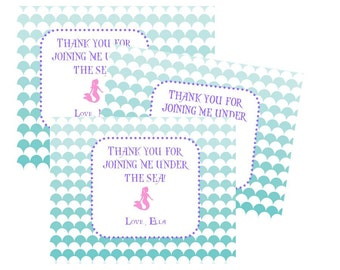 Mermaid Thank You PDF/JPEG Printable