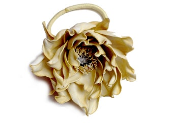 Beige flower for hair Bridesmaids hair Bridesmaids Accessories Girl wedding Accessories style hair Accessories beige dress wedding style