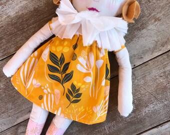 Mila fabric rag doll