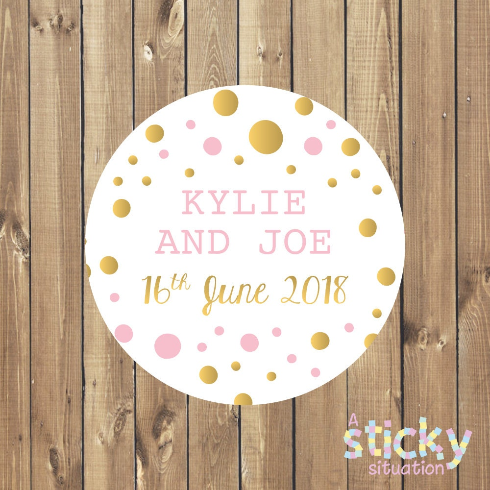 Personalized Wedding Stickers, Wedding Labels, Wedding Favour ...