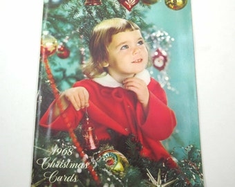 Vintage 1960s Salesman's Sample Christmas Card Blank Book by Sales Leadership Cards No Cards for Junk Journal Scrapbook Altered Art Book